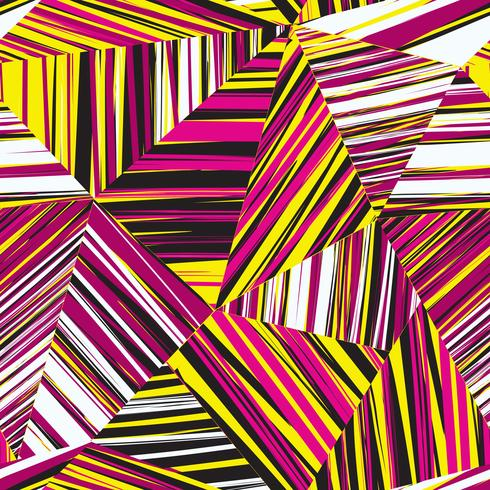 Abstracte geometrische naadloze patroon Chaotische streep lijn achtergrond vector
