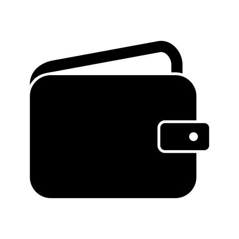 Wallet Glyph Black-pictogram vector