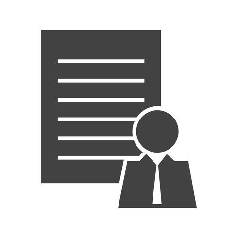 Klantenprofiel Glyph Black Icon vector