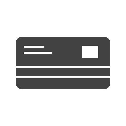 Creditcard Glyph Black pictogram vector