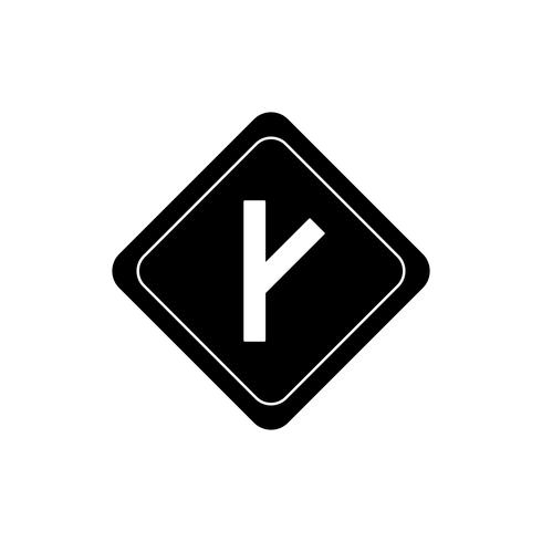 Gekoppelde weg Glyph Black Icon vector