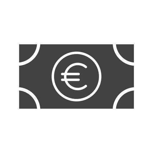 Euro Glyph Black pictogram vector