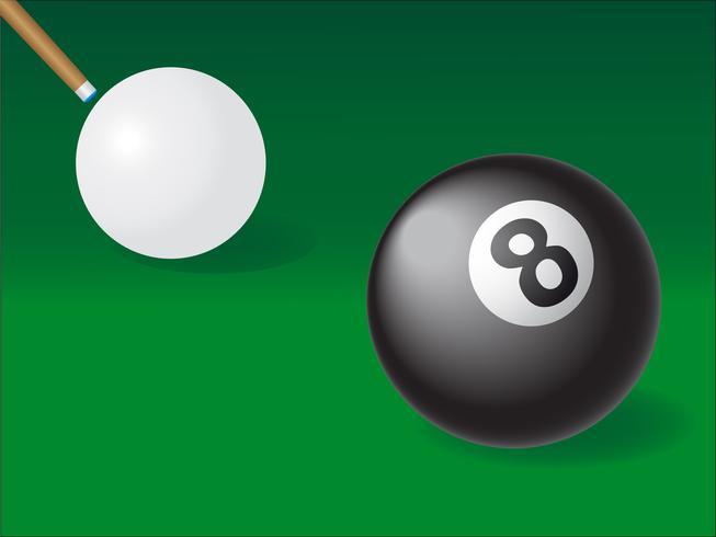 witte en zwarte bal voor biljart vector