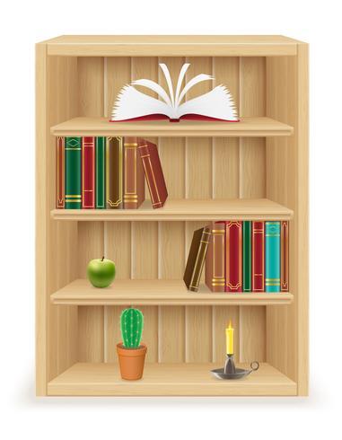 boekenplank meubels gemaakt van hout vectorillustratie vector
