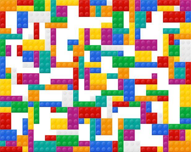 achtergrond van elementen de plastic constructor bovenaanzicht vectorillustratie vector