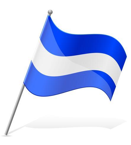 vlag van Salvador vectorillustratie vector