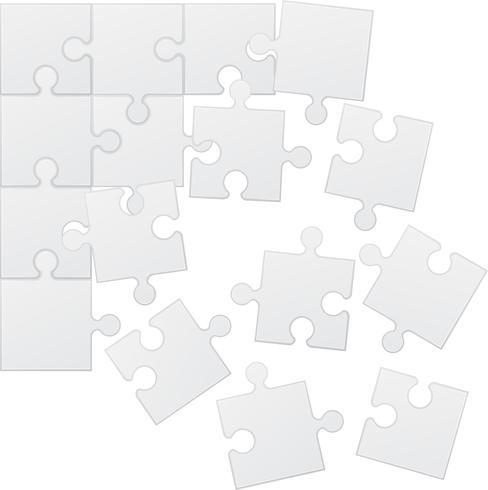 vierkante puzzel vectorillustratie vector