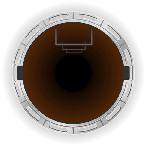 open riool put vectorillustratie vector