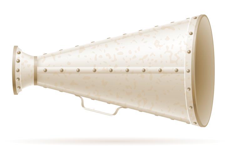 megafoon oude retro vintage pictogram stock vector illustratie