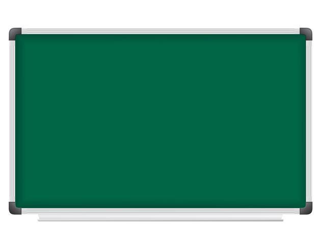 plastic schoolbestuur voor het schrijven met krijt vectorillustratie vector