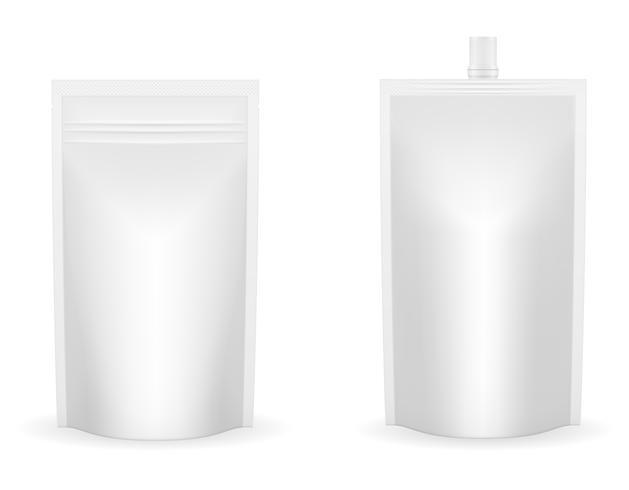 witte verpakkingsfolie voor ketchup of saus vectorillustratie vector