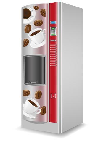 vending koffie is een machine vectorillustratie vector