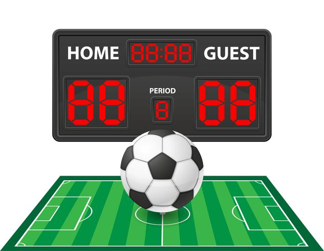 voetbal voetbal sport digitale scorebord vectorillustratie vector