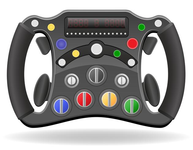 stuurwiel van raceauto vectorillustratie EPS 10 vector