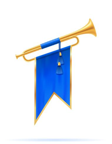 koning koninklijke gouden hoorn trompet vectorillustratie vector