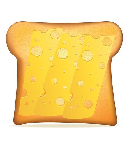 toast met kaas vectorillustratie vector