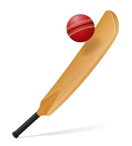 cricket bat en bal vectorillustratie vector