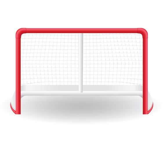 poorten goalie voor het spel van hockey vector illustratie