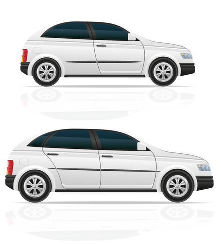 auto hatchback vectorillustratie vector