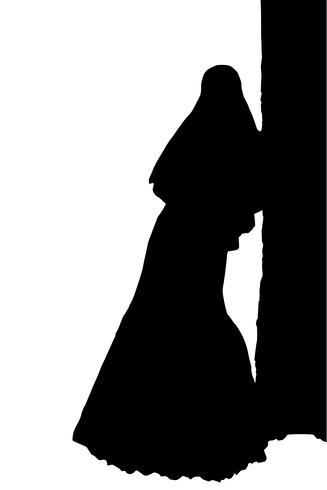 bruid realistische silhouet vectorillustratie vector
