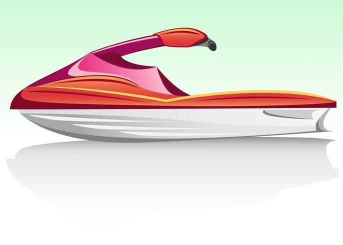 aquabike jetski vector
