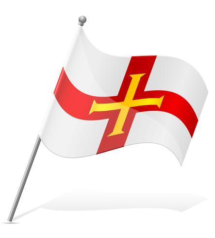 vlag van Guernsey vectorillustratie vector