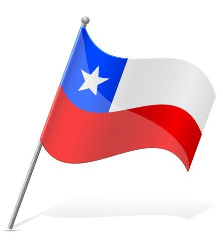 vlag van Chili vector illustratie