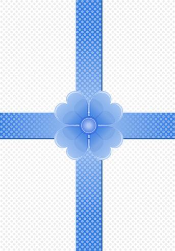 grijze achtergrond met blauwe strepen en een bloem vector