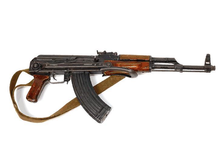 wapen is een automaat Kalashnikov vector