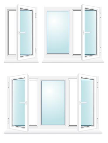 open kunststof glazen venster vectorillustratie vector