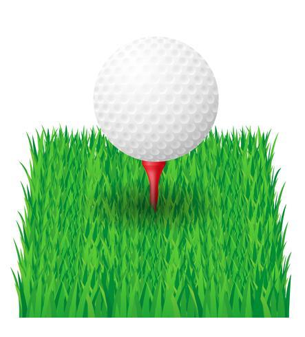 golfbal vector illustratie