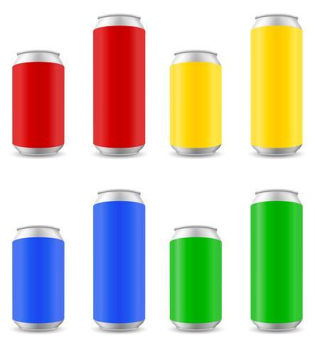 kleuren kunnen van bier vectorillustratie vector