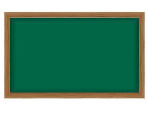 houten schoolbestuur voor het schrijven van krijt vectorillustratie vector