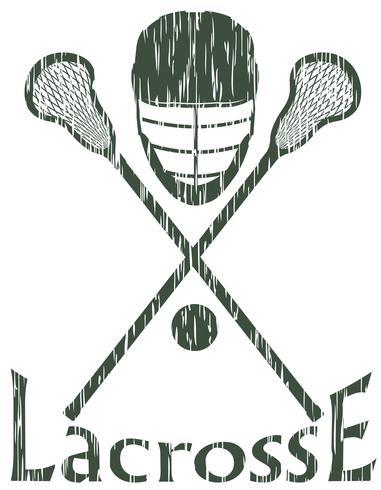 lacrosse sport concept vectorillustratie vector