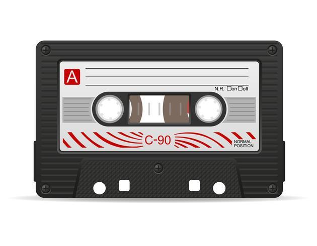 audiocassette vectorillustratie vector