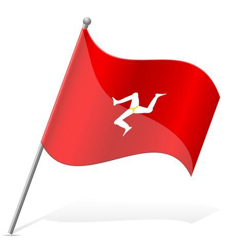 vlag van het eiland Man vectorillustratie vector