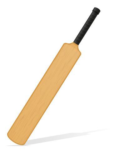 cricket bat vectorillustratie vector
