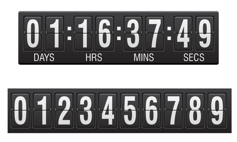 scorebord countdown timer vectorillustratie vector