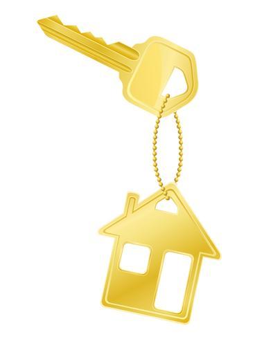 huis sleutel deurslot vectorillustratie vector