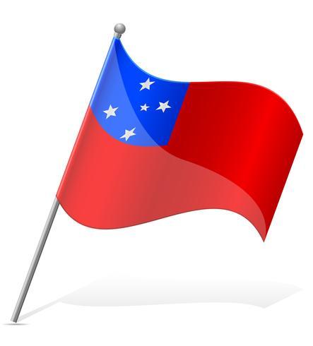 vlag van Samoa vector illustratie