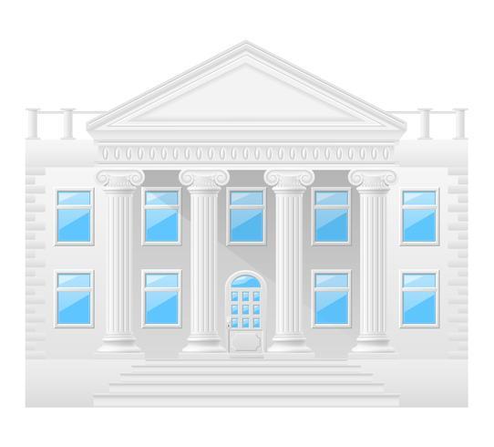 antieke gebouw voorraad vectorillustratie vector