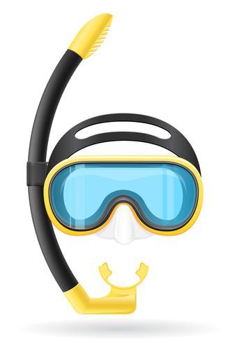 masker en buis voor duiken vectorillustratie vector