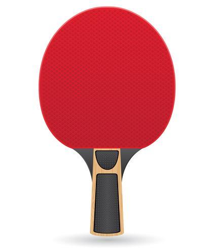 racket voor tafeltennis ping pong vectorillustratie vector