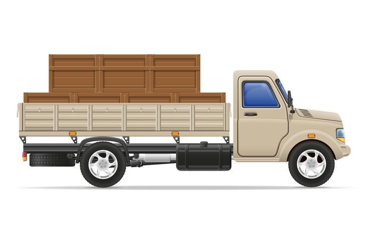 lading vrachtwagen levering en transport goederen concept vectorillustratie vector