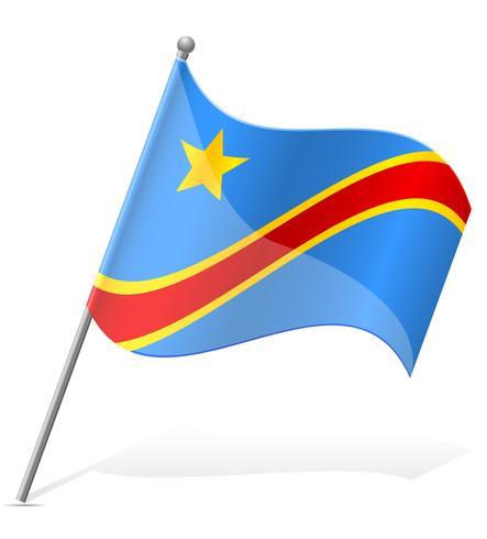 vlag van de Democratische Republiek Congo vectorillustratie vector