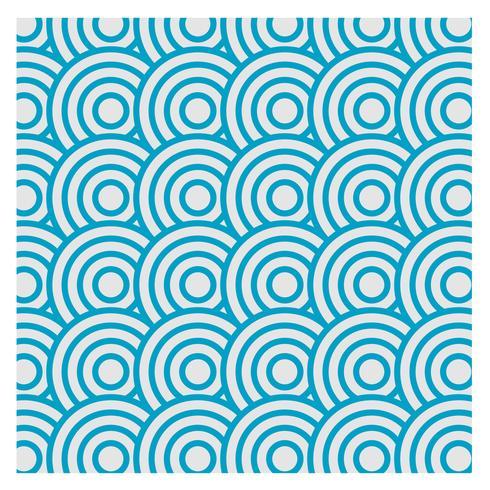 Blauw herhaald patroonontwerp voor iedereen vector