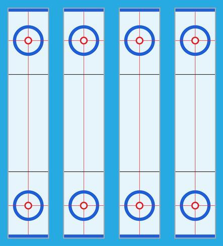speelplaats voor curling sportgame vector