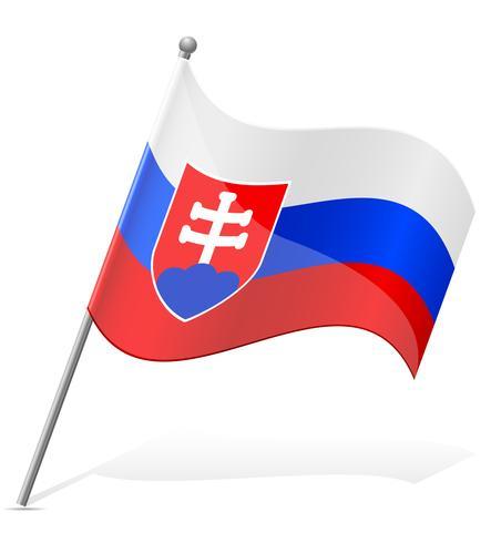 vlag van Slowakije vectorillustratie vector