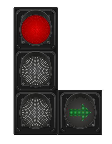 verkeerslichten voor auto's vectorillustratie vector