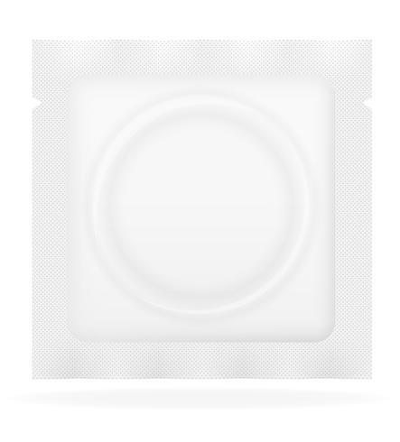 condoom in witte pakket vectorillustratie vector